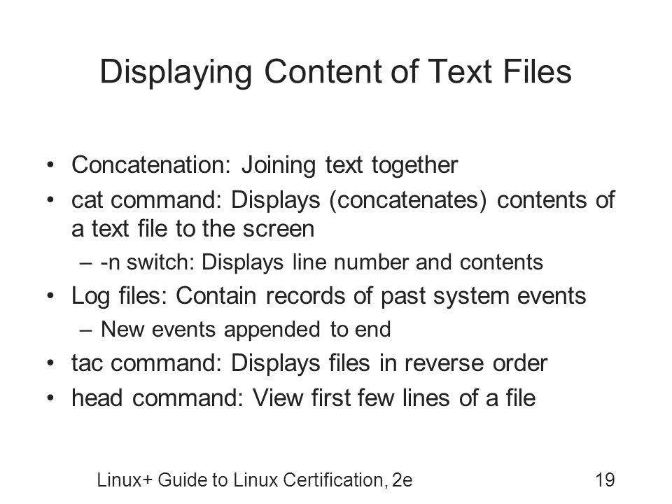 Displaying Content of Text Files