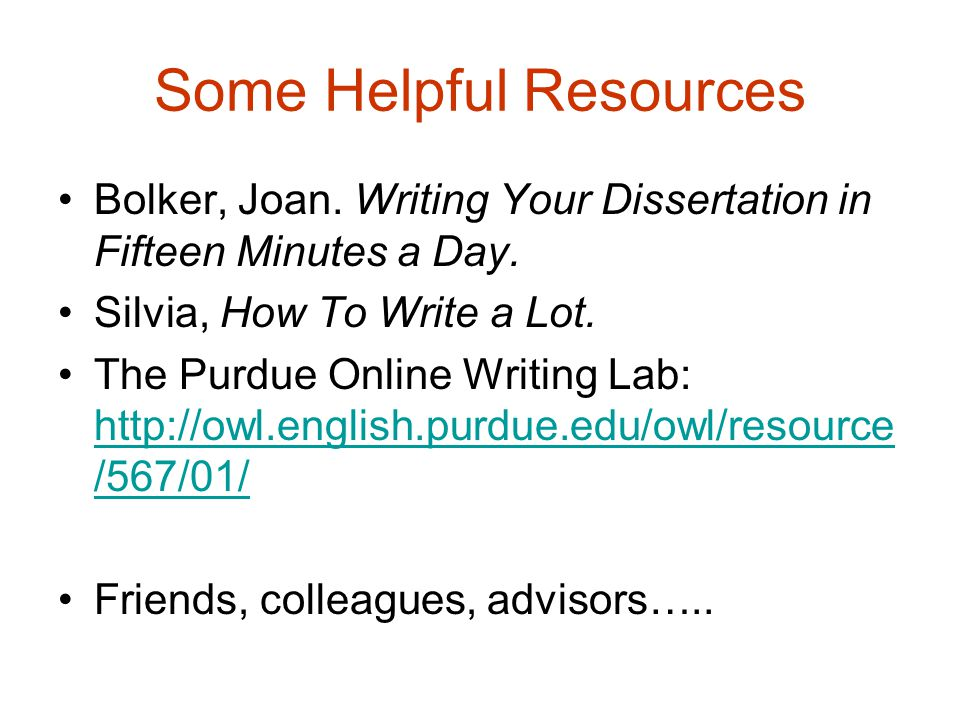 Writing your dissertation in fifteen minutes a day joan bolker