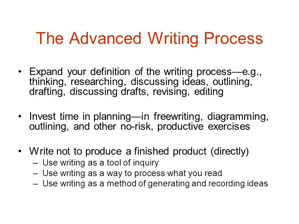 define the writing process Prewriting and outlining  repeat this process with each new circle until you run out of ideas  university of kansas writing center: prewriting strategies.