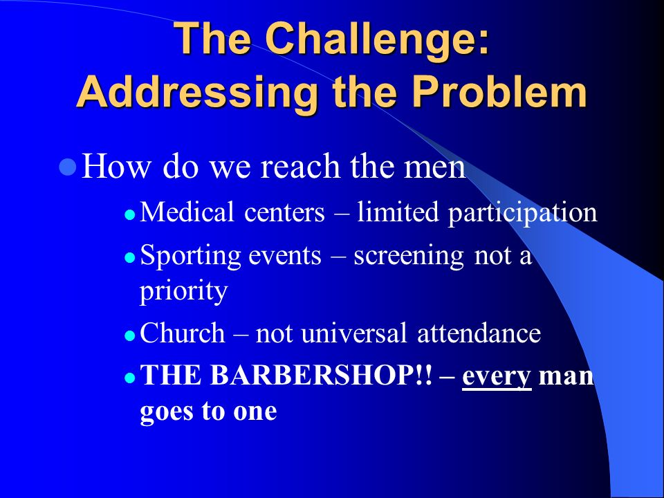 The Challenge: Addressing the Problem