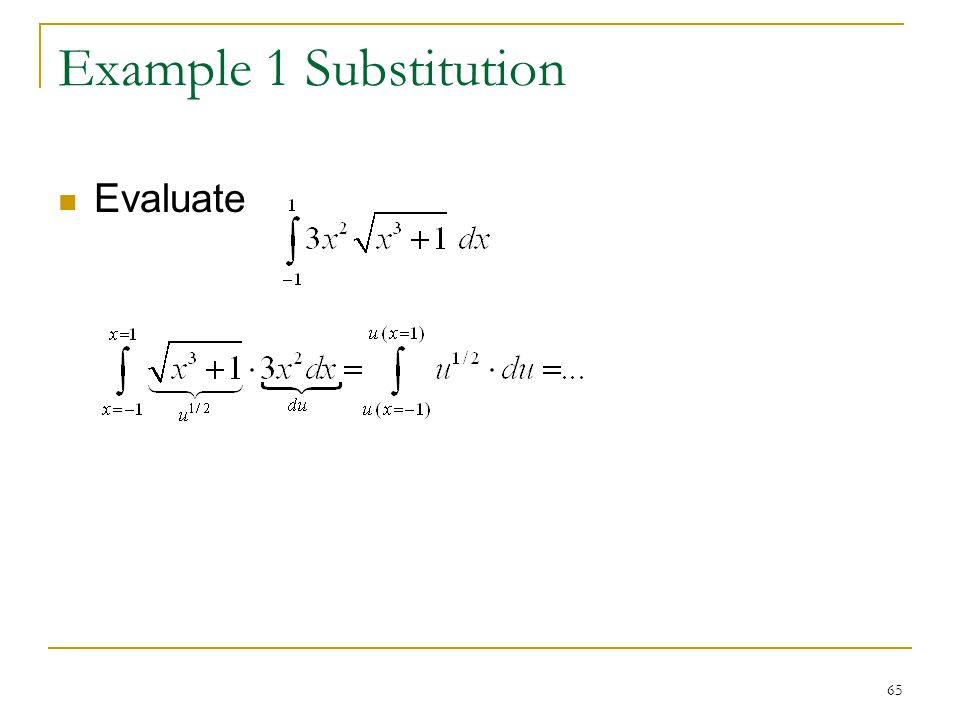 Example 1 Substitution Evaluate