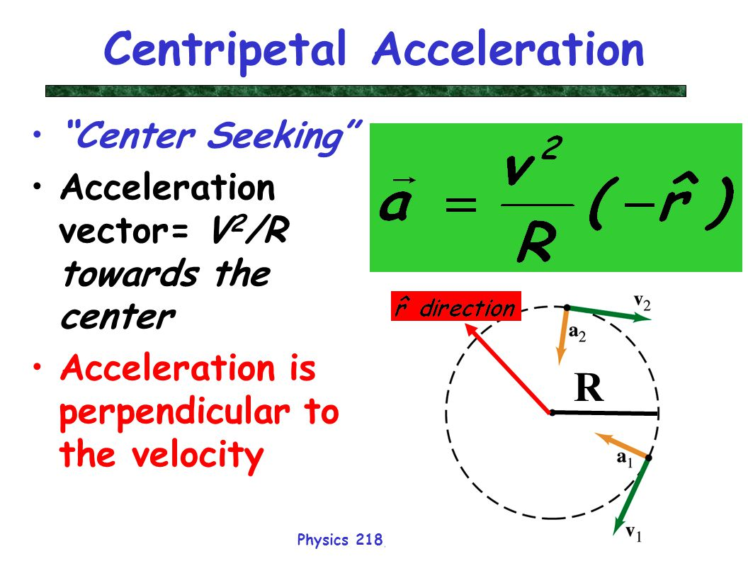 Physics 218 Lecture 19 Dr. David Toback Physics 218 ... Acceleration Physics