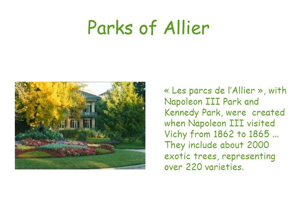 Parks of Allier