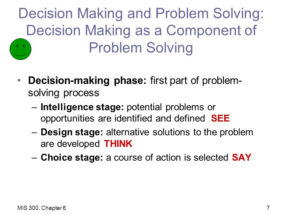 decision making problem