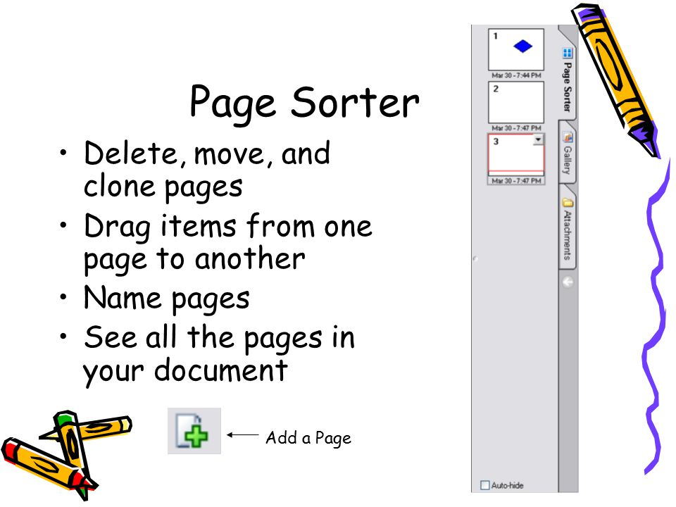 how to delete items from desktop page