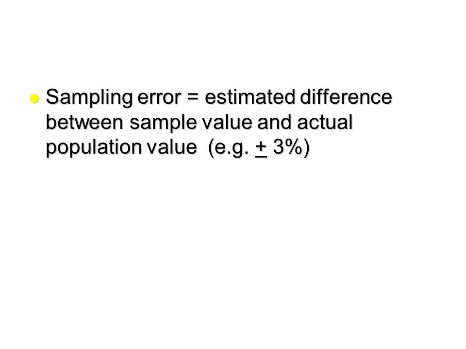 Why sample? Diversity in populations Practicality and cost. - ppt ...