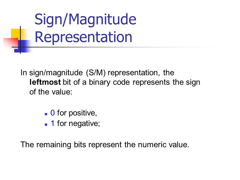 how to find signed magnitude