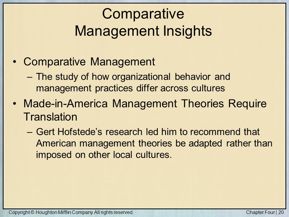 organizational behavior across cultures Ethical behavior across cultures: opposite of cultural relativism is ethical imperialism hunt, j g, & osborn, r n organizational behavior (7 ed, pp.