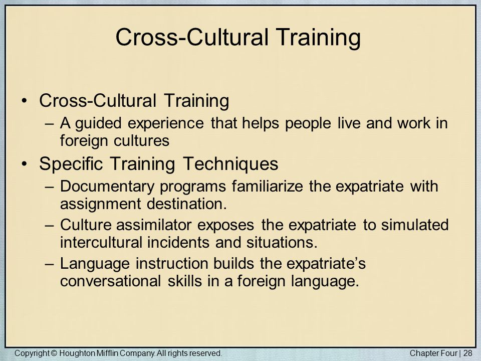 Cross culture training for expatriates management essay