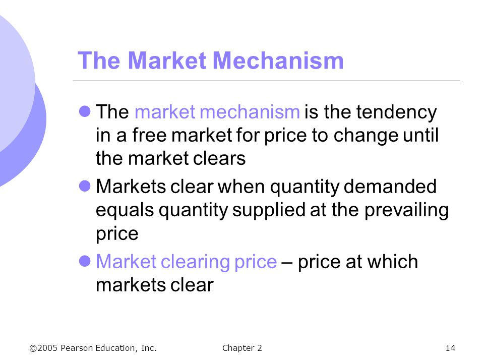 market mechanism In economics, the market mechanism is a mechanism by which the use of money  exchanged by buyers and sellers with an open and understood system of value.