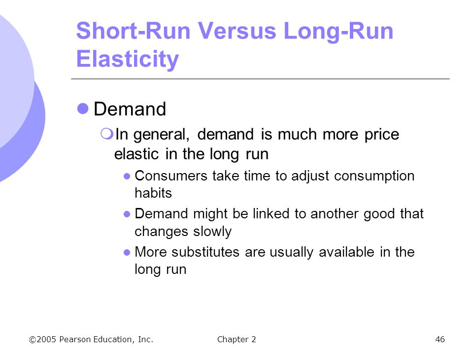 how to calculate long run price elasticity of demand