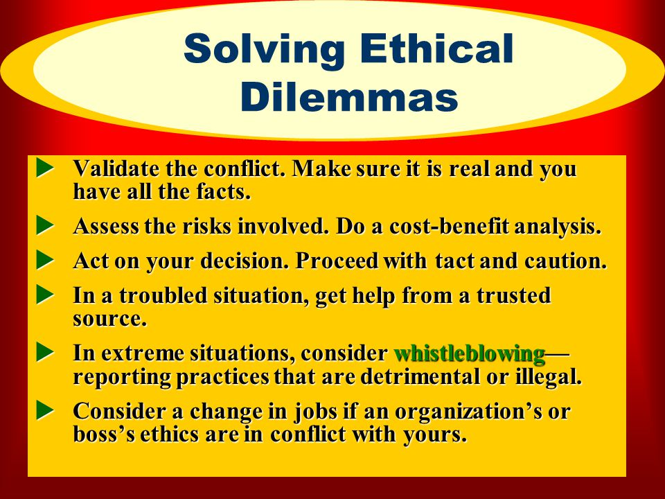 Solving Ethical Dilemmas