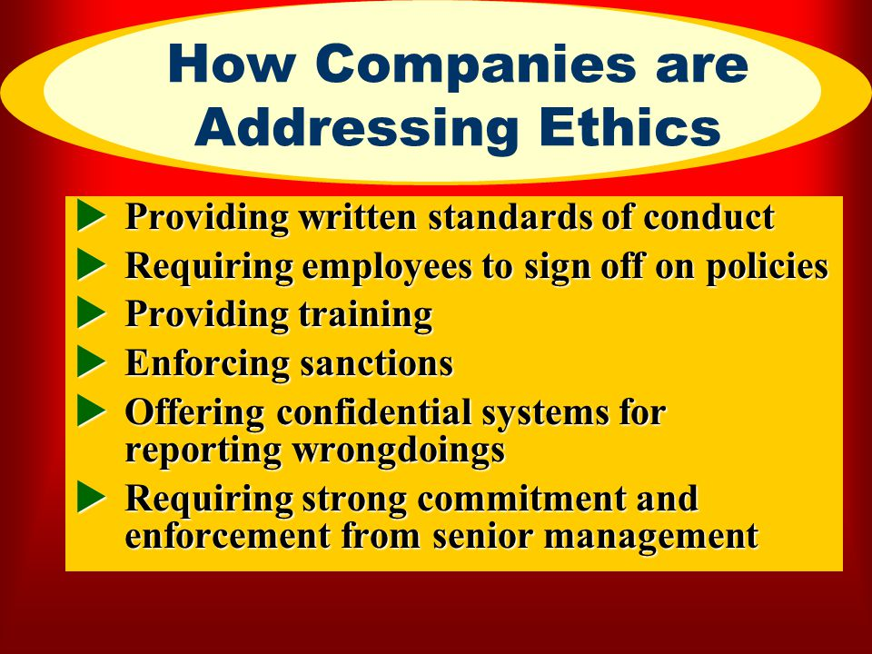 How Companies are Addressing Ethics