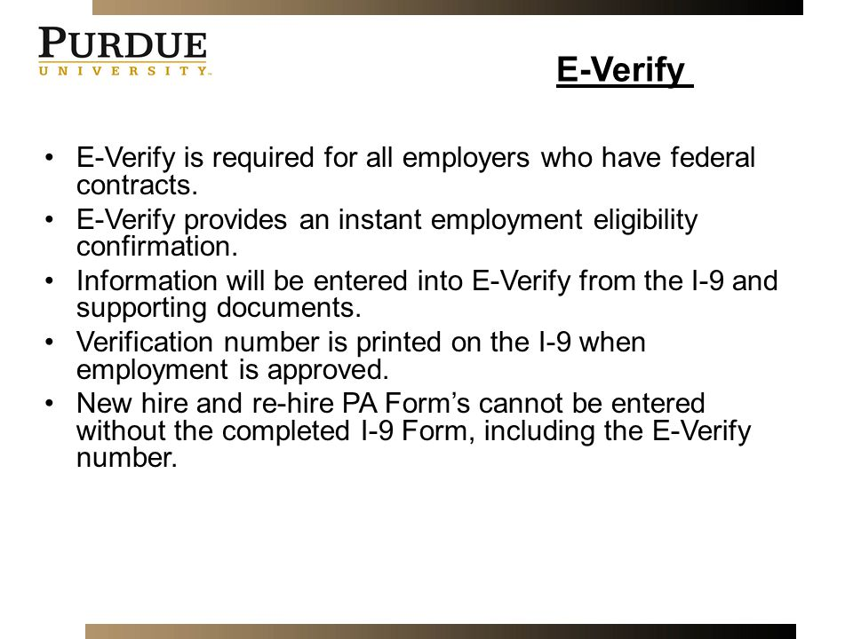 Employment eligibility verification ppt video online for New job documents required
