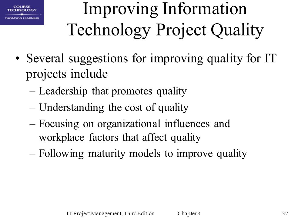 suggestions for improving project quality for