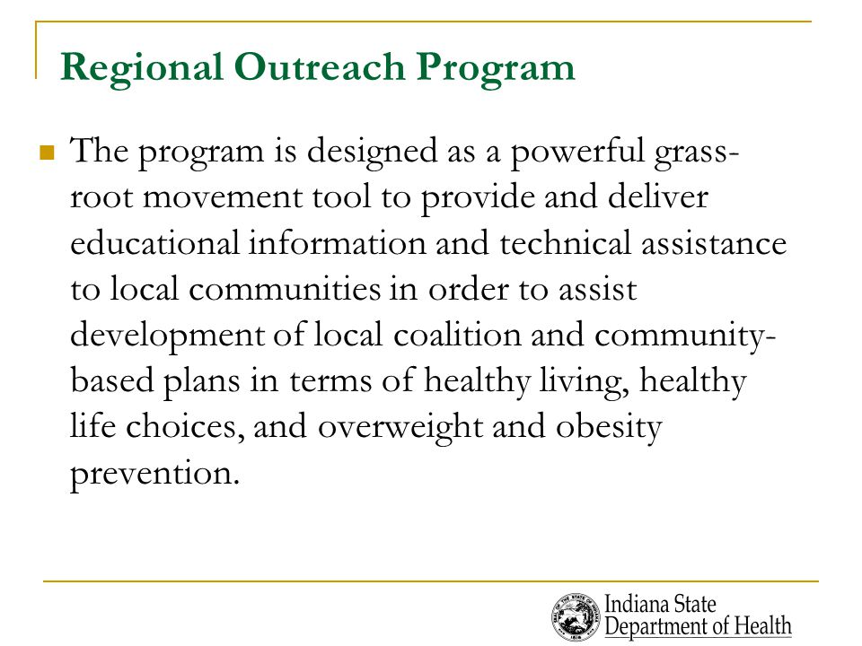 Regional Outreach Program