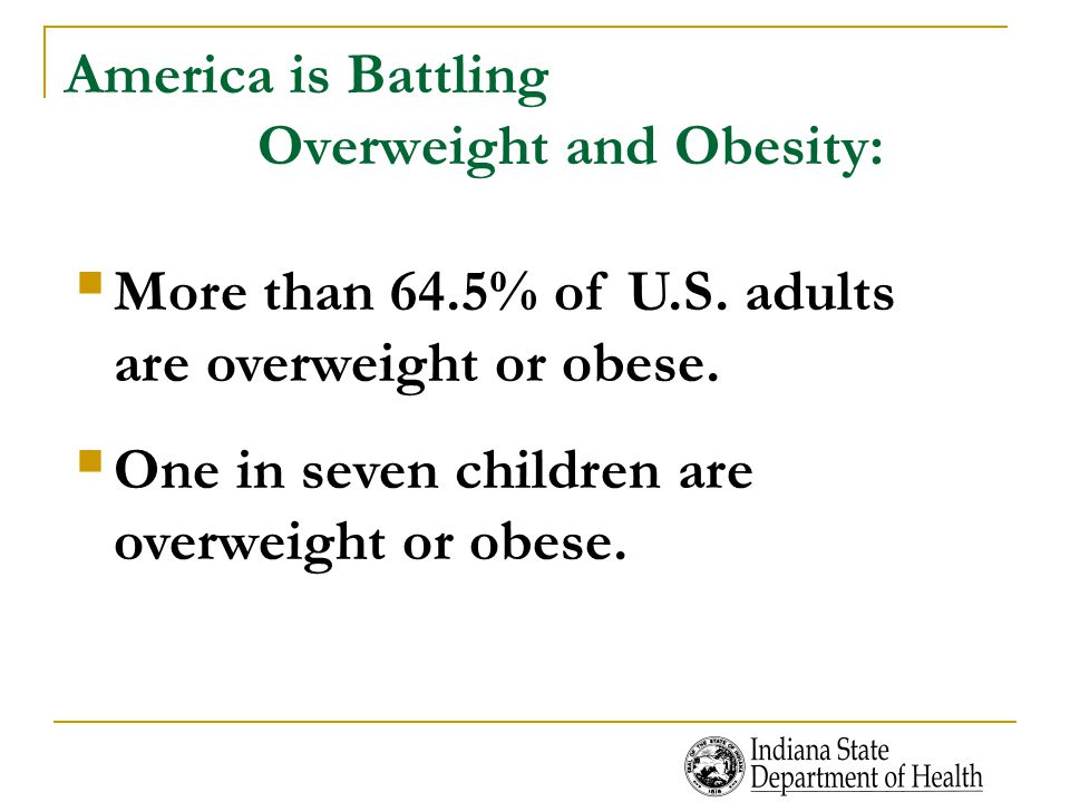 America is Battling Overweight and Obesity: