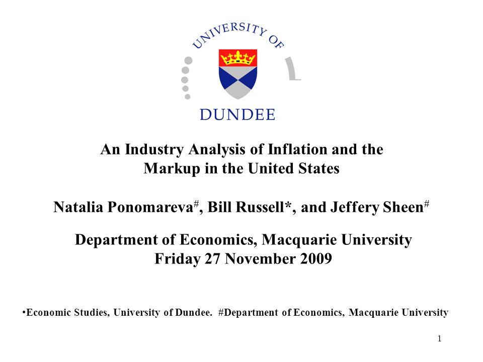 Department of Economics, Macquarie University Friday 27 November 2009
