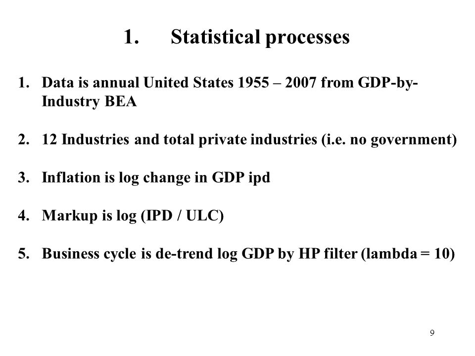 1. Statistical processes