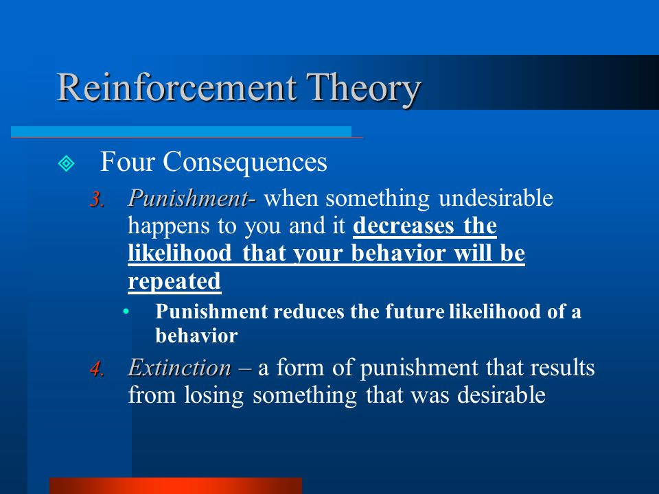 Reinforcement Theory Four Consequences