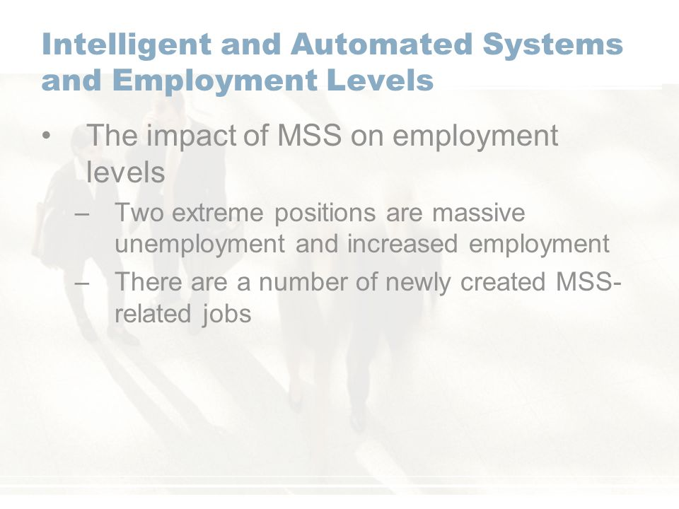 Intelligent and Automated Systems and Employment Levels