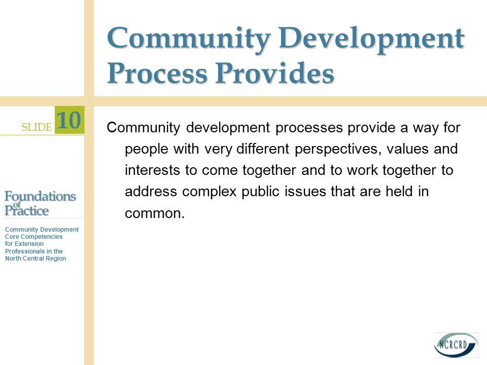 Community Development Process Provides