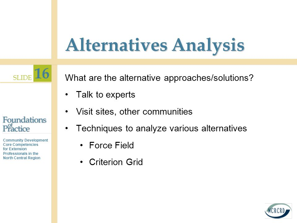 Alternatives Analysis