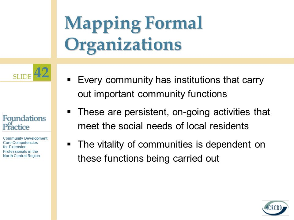 Mapping Formal Organizations