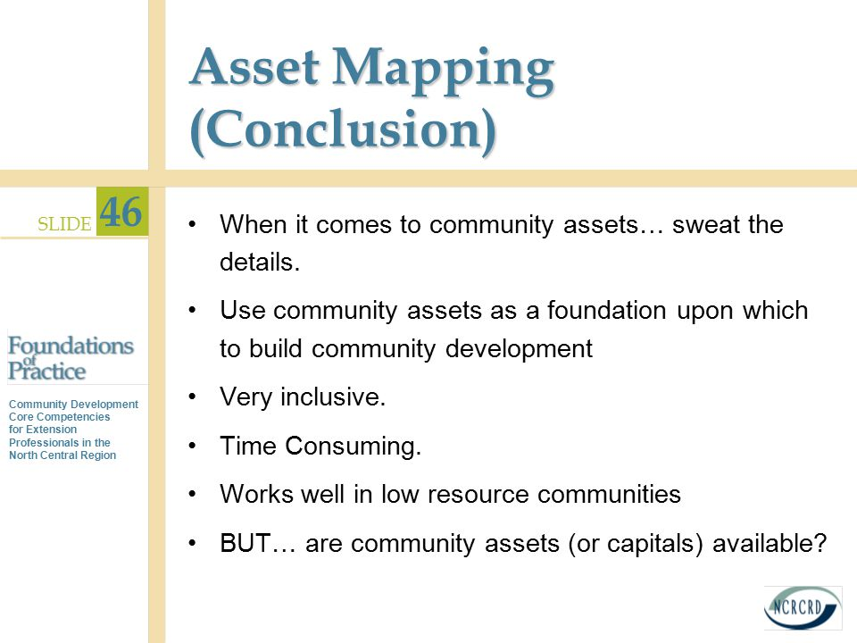 Asset Mapping (Conclusion)