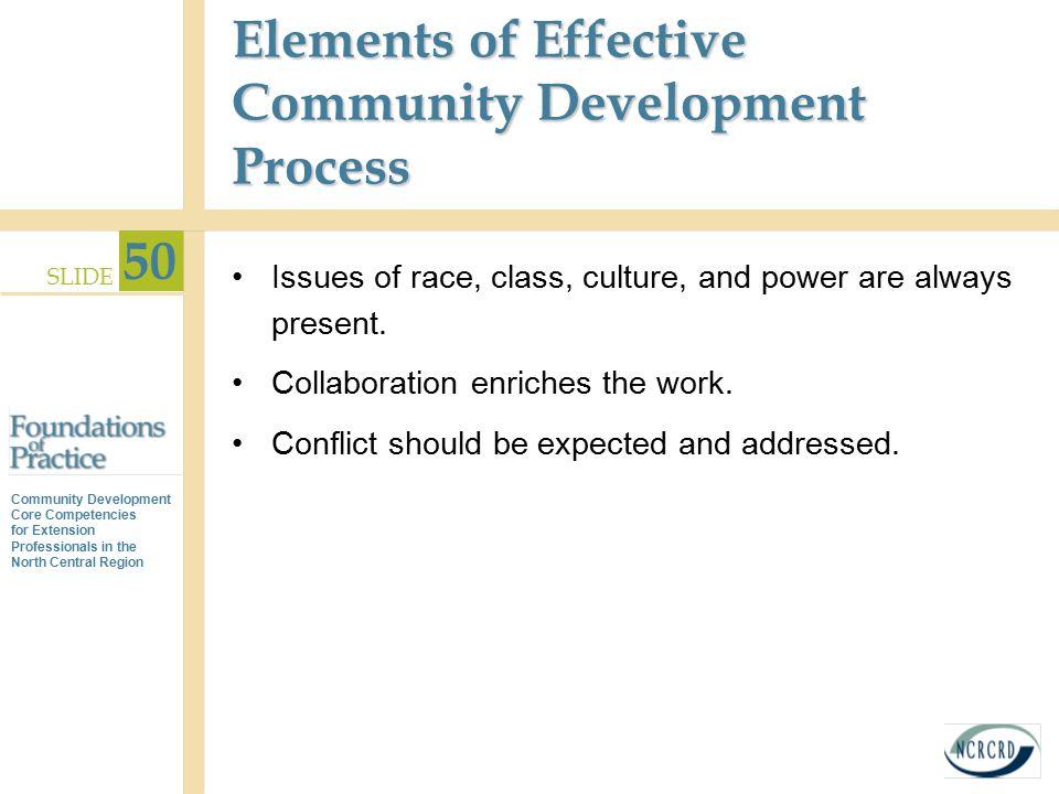 Elements of Effective Community Development Process