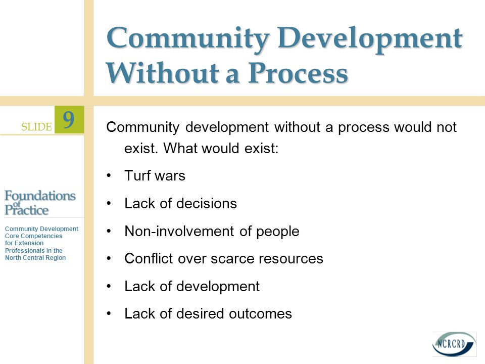 Community Development Without a Process