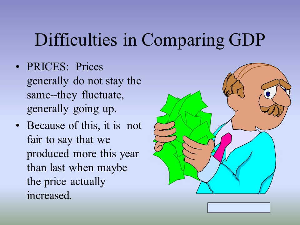 Difficulties in Comparing GDP