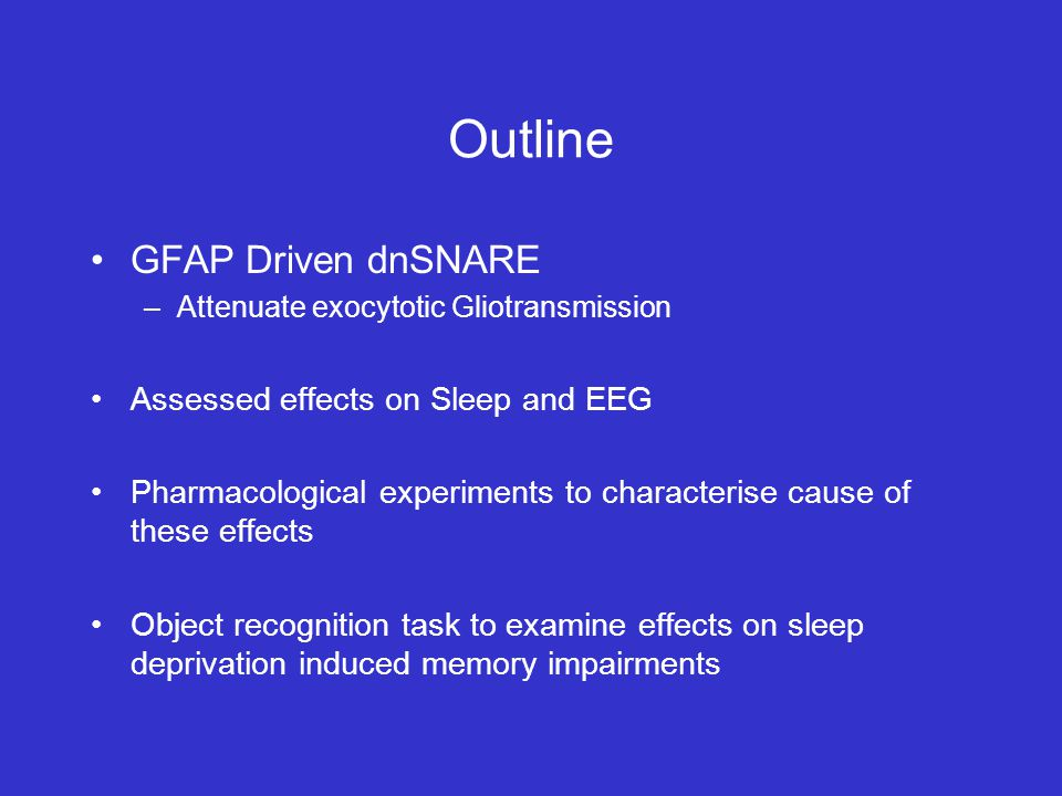 Sleep Deprivation Research Paper Outline