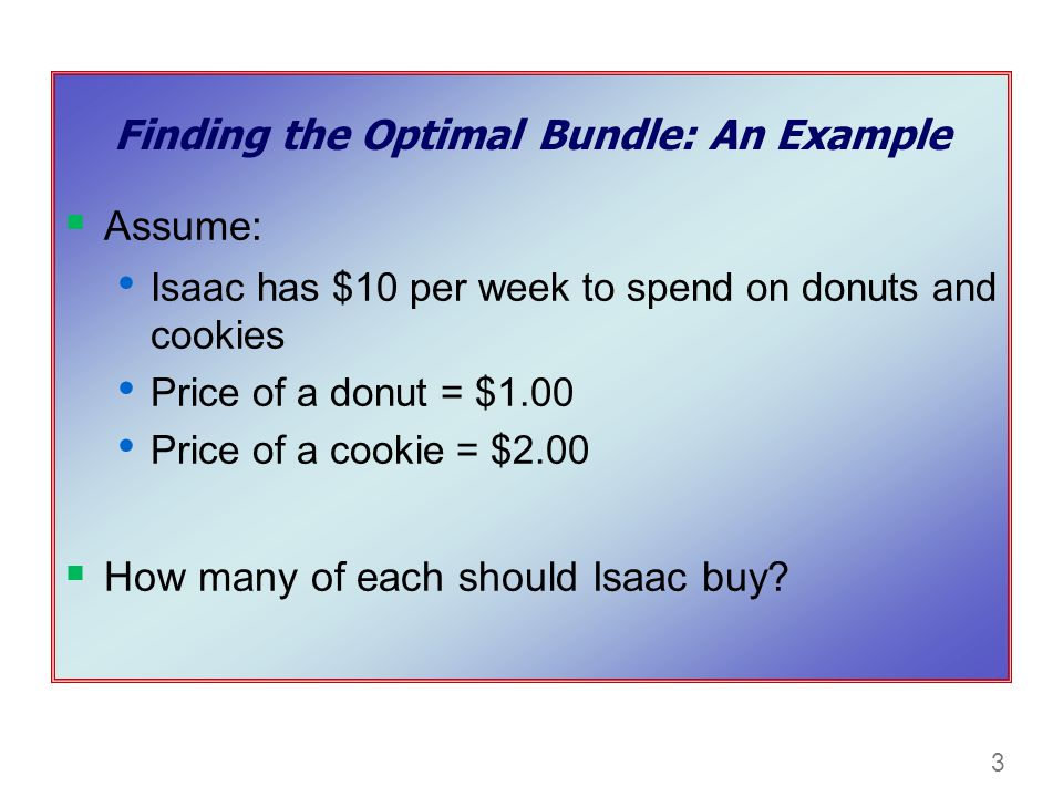 Finding the Optimal Bundle: An Example