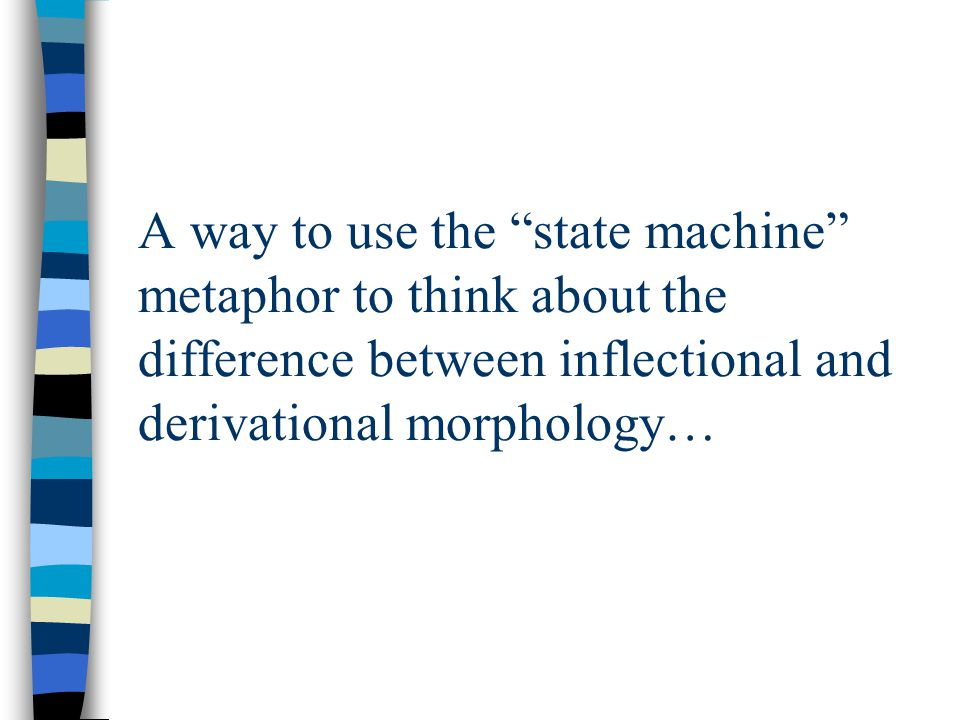 difference between inflectional and derivational morphology pdf