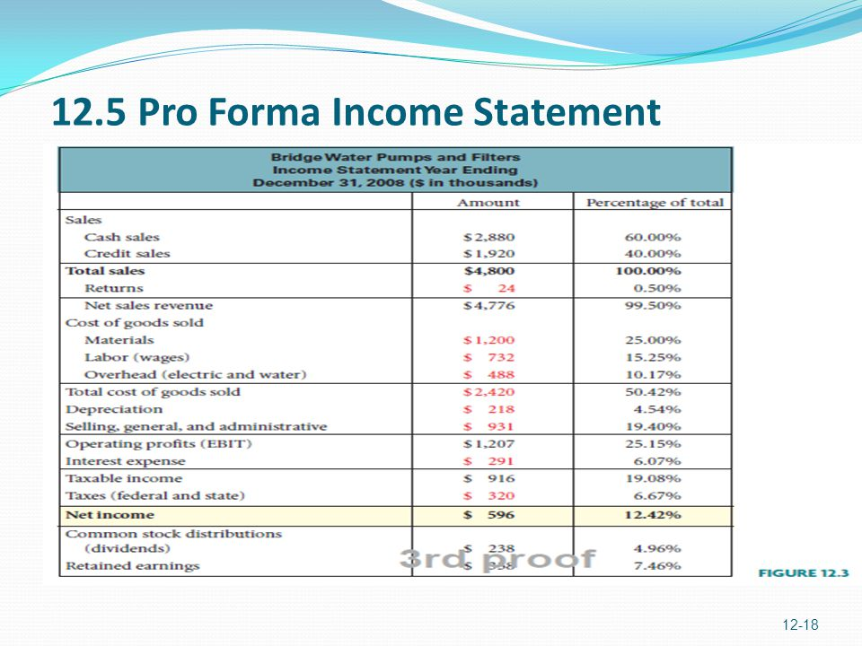 how to make a pro forma income statement