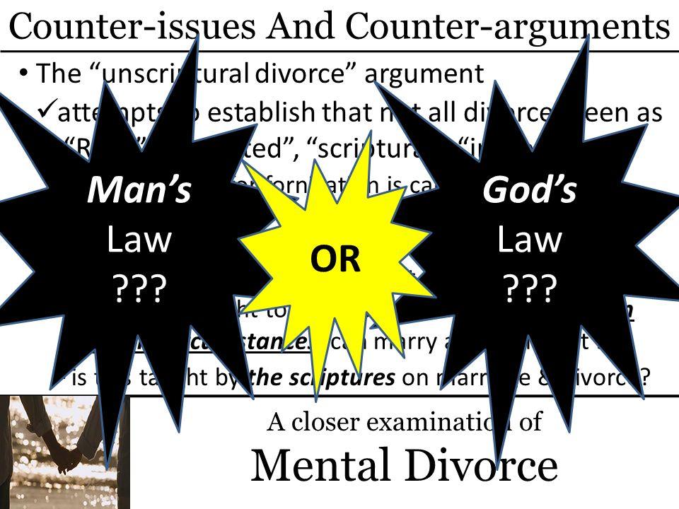 Mental Divorce Man's Law God's Law OR