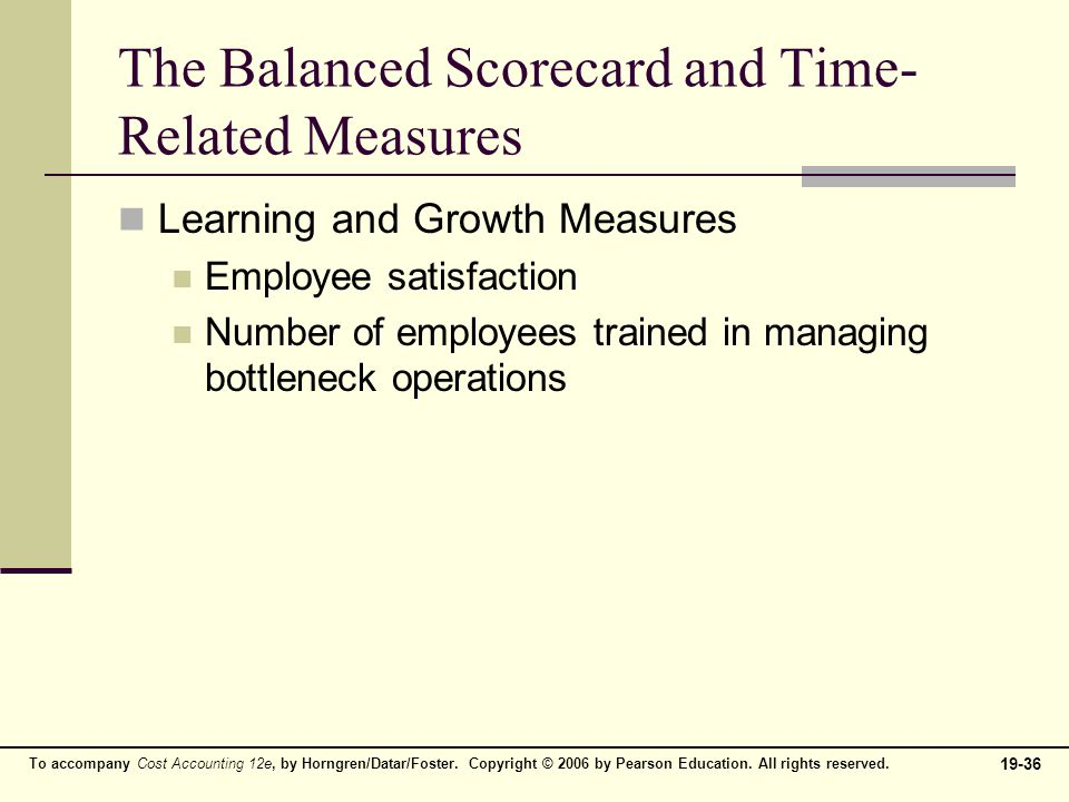 balanced scorecard quality time and the theory of constraints