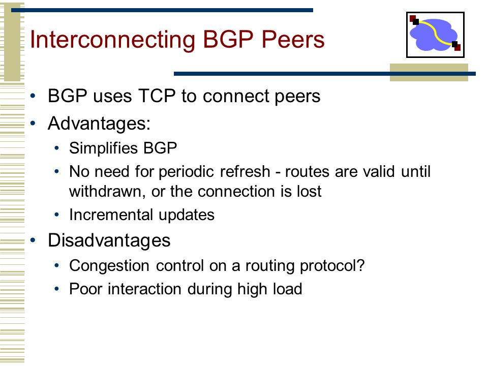 Interconnecting BGP Peers