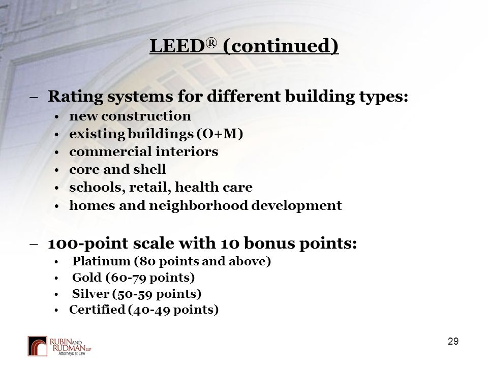 Property acquisition process due diligence and closing for Leed for homes rating system