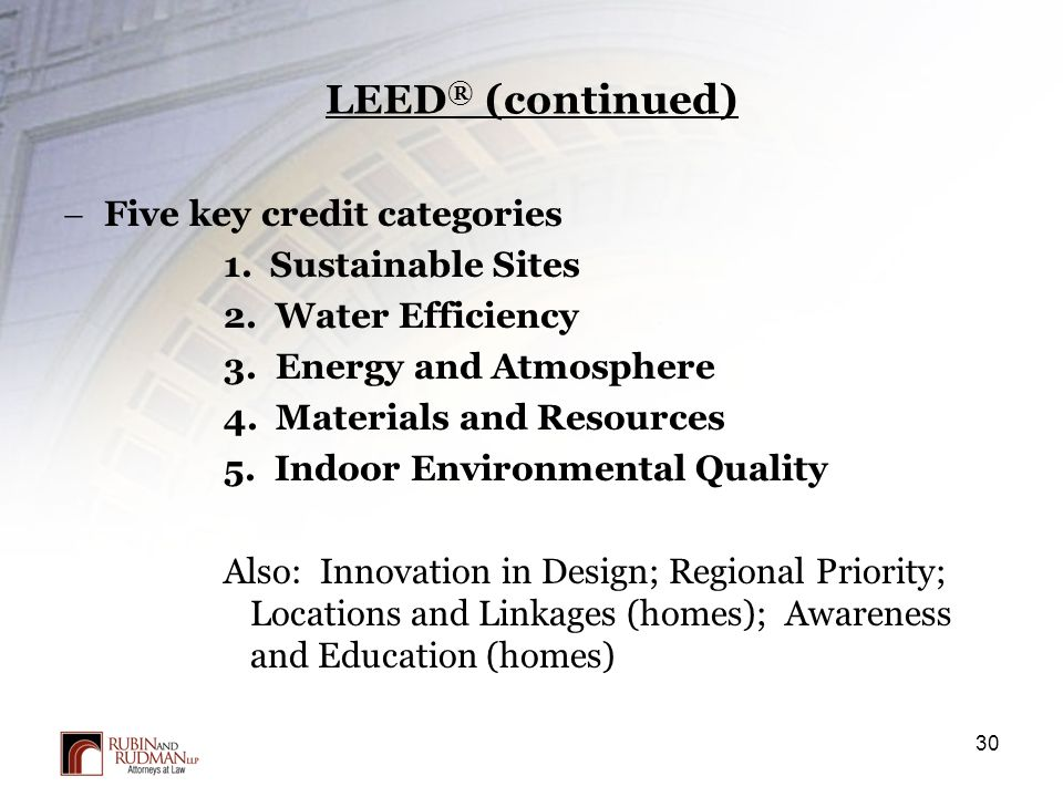 Property acquisition process due diligence and closing for Indoor environmental quality design