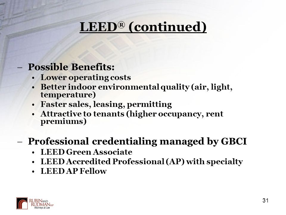 Property acquisition process due diligence and closing for Leed benefits