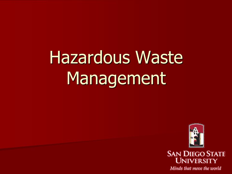 Hazardous Waste Management Ppt Image Gallery  Hcpr