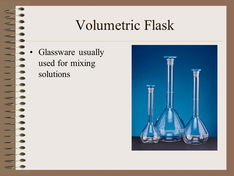 Volumetric Flask Glassware usually used for mixing solutions