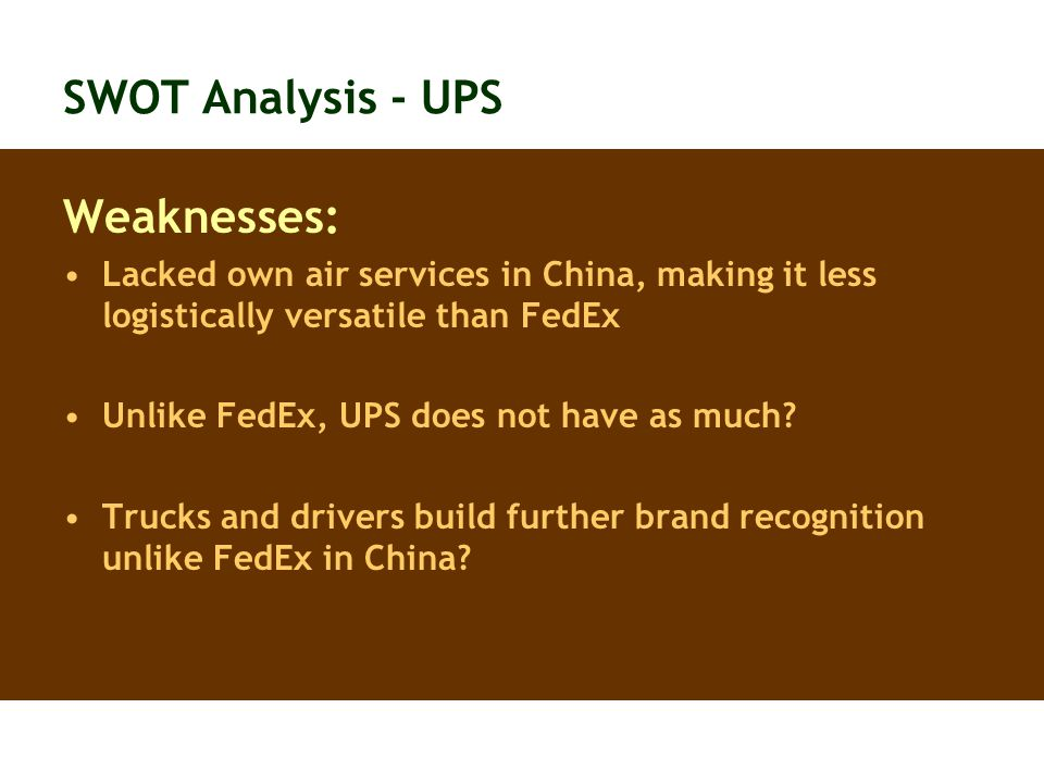 weaknesses of ups How the most effective leaders turn weaknesses into strengths face it, you can't be good at everything here's how to make up for the skills you lack.