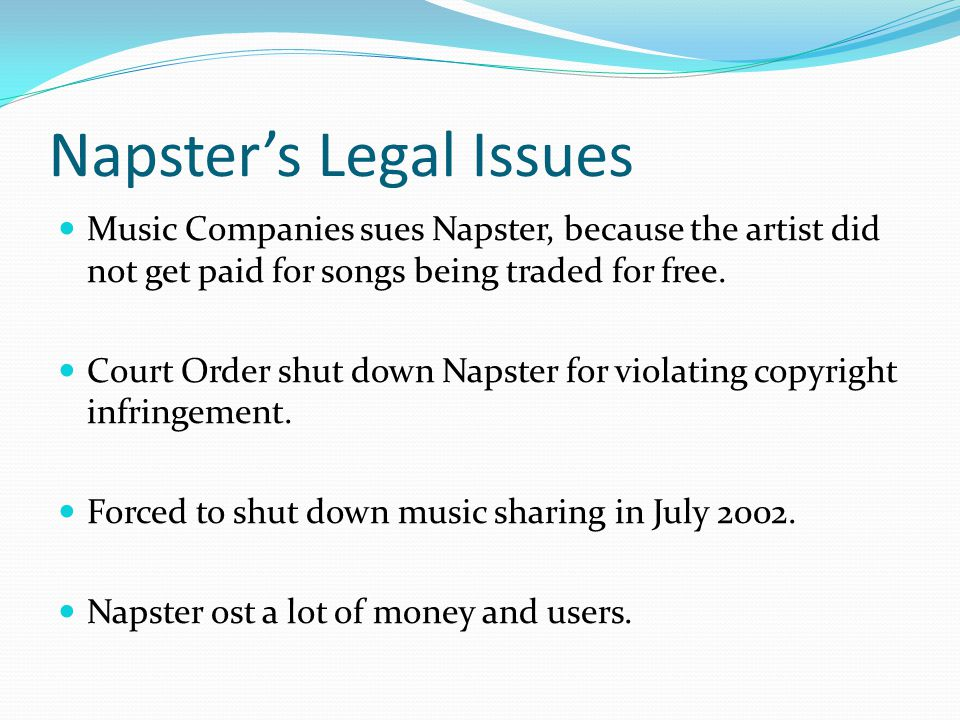 Napster's Legal Issues