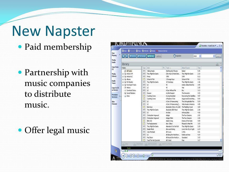 New Napster Paid membership