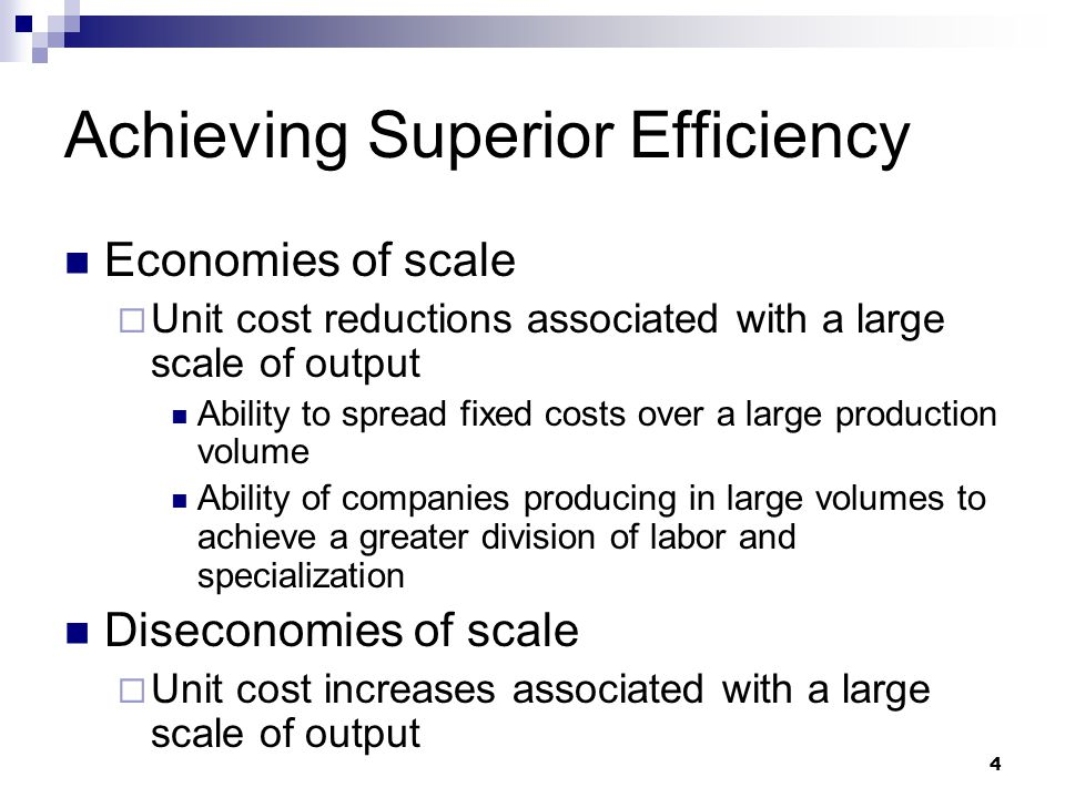 Achieving Superior Efficiency