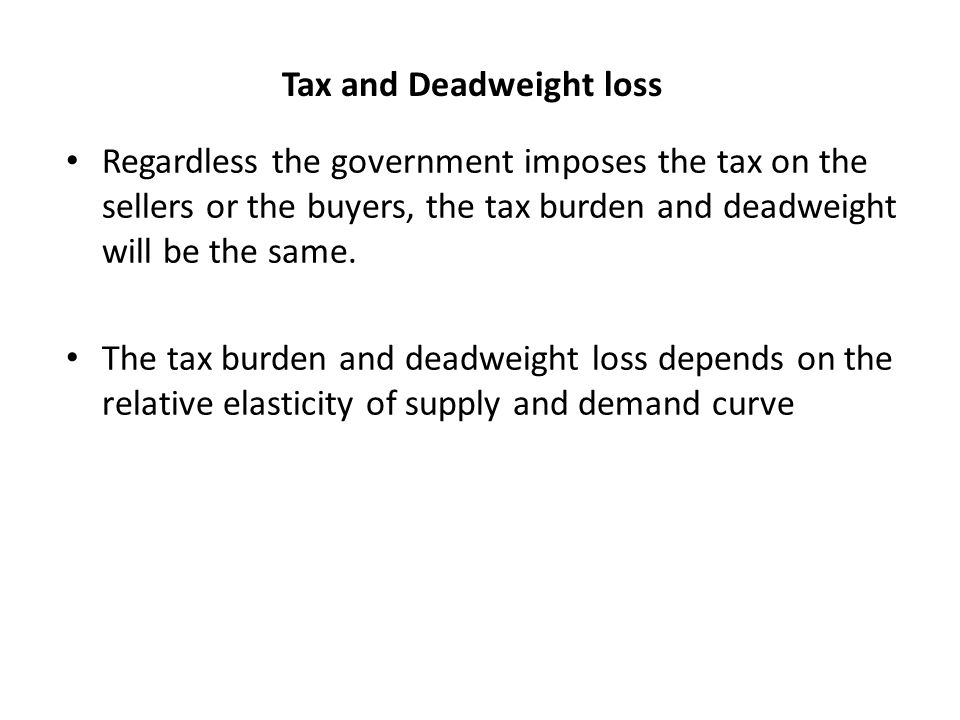 tax and deadweight loss relationships