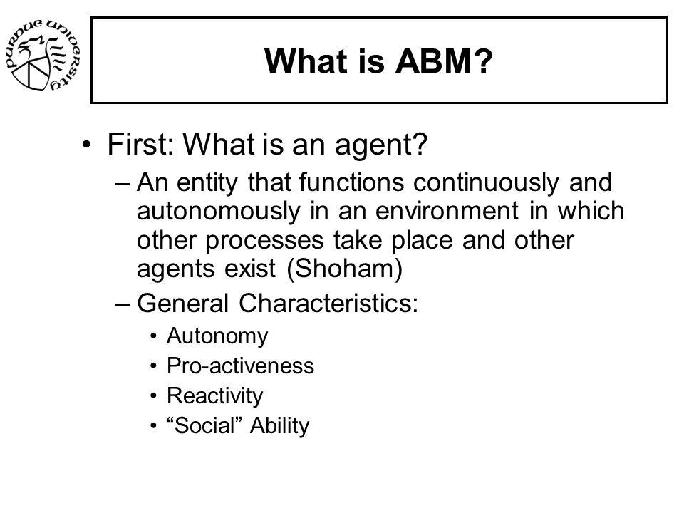 Agent Based Modeling (ABM) - ppt download
